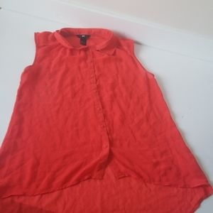 5/$25 H&M red tank button up top size 6